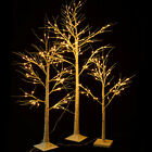 Christmas Xmas White Birch Snow Tree LED Light Warm Decorative Party Festival