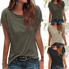 New Women Tassels Short Sleeve Loose T-Shirt Summer Casual Tops Blouse plus size