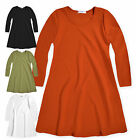 Girls Dress New Kids A Line Long Sleeved Swing Flared Dresses Ages 5-13 Years