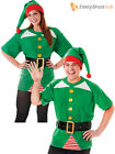 Adult Jolly Elf Kit Mens Ladies Christmas Fancy Dress Costume Santas Helper Xmas