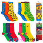 MENS FUNNY COTTON RICH BRIGHT SOCKS MENS MULTIPACK BANANA SMILEY GIFT IDEA SOCKS