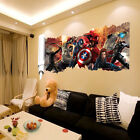 New 3d Wall Stickers Avengers Marvel Superhero Iron Man Thor Captain Decal Room
