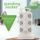 New Unique 3 Layers 2.1A USB Vertical Stand Socket Power Strip Office Home Use