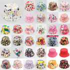 2-5 Y Girl Baby Outdoor Bonnet Beanie Cap Bucket Hats Summer Sun Beach Toddler