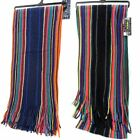 RJM Mens Striped Winter Scarf Style GL345
