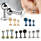 10pcs Stainless Titanium Plated Color Labret Lip Ear Steel Ball Body Piercing
