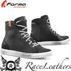FORMA SOUL BLACK WHITE WATERPROOF URBAN SHORT CASUAL MOTORCYCLE MOTORBIKE BOOTS