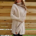Casual Womens Batwing Sleeve Knitted Sweater Tops Loose Cardigan Outwear Coat