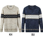 Men's Classic Long Sleeve Stylish Casual Knit Pullover Sweater Cozy Knitwear New
