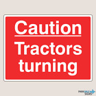 Caution Tractors Turning Farm Signs (14027)