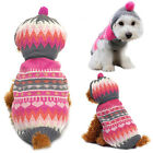 HOT Pet Dog Costume Clothes Puppy Cat Coat Apparel Hoodie Knit Sweater Xmas Gift