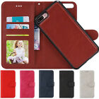 Flip Leather Wallet Case Magnetic Removable Cover Purse Bag For iPhone 6s 7 Plus