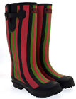 Easy Candy Stripe Wellington Boots Wellies Wider Calf  Size 3 and 5