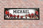 Personalized Customized Chicago Blackhawks Name Poster Sport Banner with Frame $35.0 USD on eBay