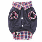Dog Cat Grid Puppy Warm Coat T-Shirt Pet Clothes POLO Shirt Dog Apparel for Dog