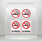 Stickers Sticker No Smoking Signs Car Atv Bike polymeric vinyl Garage mtv ZK229