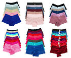 Pack Lot Adult Intimates Boxer Plain Hipster Lace Boyshorts Panty XS/S/M/L/XL