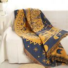 100% cotton Vintage European Fringed Blanket Tapestry Throw Chair Sofa Cover