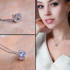 Women Gold Sliver Magic Cube Necklace Crystal Pendant Vogue Cheap Gift