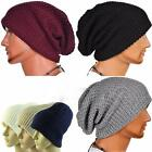 Unisex Women Men Winter Warm Knitting Beanie Skull Slouchy Cap Hat Oversize