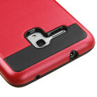 """For Alcatel PIXI 4 (4.5"""") Hybrid Chrome Hard Case Brushed Metal Phone Cover"""