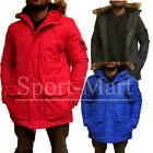Boys Youth Detachable Fur Trim Hood Parka Jacket Warm Winter Padded Coat Size