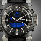 INFANTRY Mens LED Digital Analog Wrist Watch Luminous Light Sport Pilot Rubber