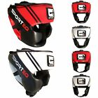 New Sporteq Leather Chin/Without Chin Face Boxing Martial Arts Open Headguard
