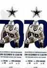 DALLAS COWBOYS VS TAMPA BAY DECEMBER 18th GAME 2 TICKETS SECTION 409