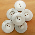 5 beautiful ivory marble effect dimple buttons  17mm 23mm or 28mm