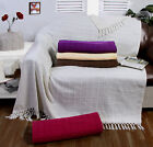 Large Size Woven 100% Cotton Sofa Bed Settee Throw Cover Chair Bedspread Blanket