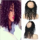 Brazilian Kinky Curly Human Hair 360 Full Lace Band Frontal Closure  Baby Hair