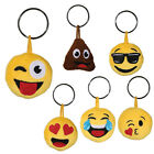 PLUSH EMOJI KEYRING KEY CHAIN EMOTICON HANDBAG PURSE CUTE GIFT TOY PENDANT NEW