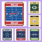 NFL Licensed Triple Woven Jacquard Afghan Throw Baby Blanket - Choose Your Team on eBay