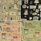 Cafe French Patisserie Paris Bakery 100% Cotton Canvas Fabric (Fabric Freedom)