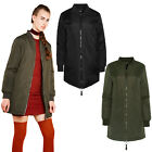 Brave Soul Womens Havens Padded Coat Quilted Longline Harrington Bomber Jacket