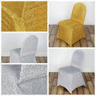 Metallic Spandex CHAIR COVERS Wedding Party Reception Decorations WHOLESALE