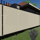 4' 5' 6' 8' Beige Commercial Fence Retirement Screen Shade Cover Fabric Mesh Garden