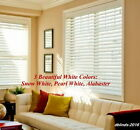 "2"" FAUXWOOD WINDOW BLINDS ~SIZE~ 32.25"" WIDTH x 37"" to 48"" LENGTH ~ WHITE COLORS"