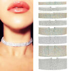 Fashion Women Full Diamond Crystal Rhinestone Choker Necklace Wedding Jewelry FH