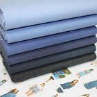 VERGE - DENIM ChAMBRAY COTTON FABRIC INDIGO BLUE per metre - dressmaking shirts