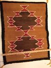 VINTAGE NAVAJO NATIVE AMERICAN INDIAN WEAVING Rug - Classic Design - 22 X 28