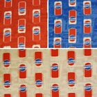 SALE Camelot Fabrics 100% Cotton Patchwork Fabric Pepsi Cola Cans Classic Drink