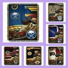 NHL Licensed Vintage Tapestry Afghan Throw Blanket - Choose Your Team