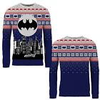 Adults Official Licensed DC Comics Xmas Batman Jumper Knitted Christmas Sweater
