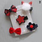 5Pc/set Hairpin Baby Girl Hair Clip Bow Flower Mini Barrettes Hearwear Accessory