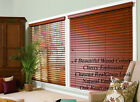"""2"""" FAUXWOOD BLINDS 38 1/2"""" WIDE x 61"""" to 72"""" LENGTHS - 4 GREAT WOOD COLORS!"""