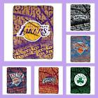 NBA Licensed Redux Micro Raschel Fleece Afghan Throw Blanket - Choose Team
