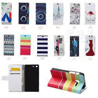 Luxury Painting Leather Folio Wallet Case Pouch For ALCATEL Mobile Phone 05
