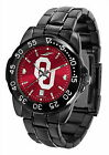 Oklahoma Sooners Watch Fantom Gunmetal Finish Red Dial Ladies or Mens